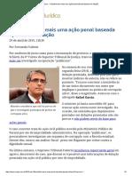 ConJur - Schietti Tranca Mais Uma Ação Penal Baseada Apenas Em Delação