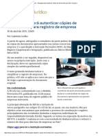 ConJur - Advogado Pode Autenticar Cópias de Documentos Para Abrir Empresa