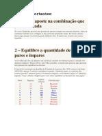 Lotofácil Metodologia 01