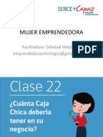 CLASE  22 MUJER EMPRENDEDORA PROGRAMA MAS CAPAZ