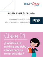 CLASE  21 MUJER EMPRENDEDORA PROGRAMA MAS CAPAZ