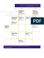 Professional Development Calendar - May 19