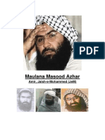 Dossier indicating  Azhar's terror acts to Pakistan & World Bodies