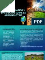 Cambio Climático y Sus Efectos Sobre La Agroindustria