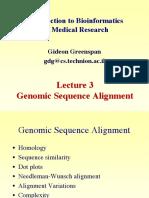 Genomic Sequence Alignment