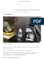 Whisky Test better with water