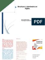 Brochure y Planimetro en Inglés.