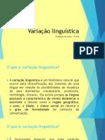 Variação linguística