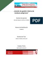 Trabajo.procedimiento de Gestión Interna de Residuos Peligrosos