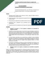 La Mar 550 - Acta Junta Extraordinaria 16042019