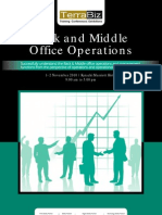Back and Middle Office Operations