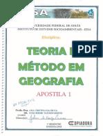 Apostila de Geografia Teoria e Metodos I