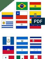Banderas Dia de Las Américas