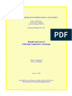 benefit and cost of comparative advantage