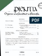 Revista Sapientia de Filosofía no. 72