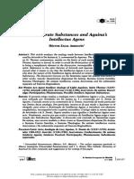 ZAGAL H. - The Separate Substances and Aquinas. lntellectus agens - ARTÍCULO 2008.pdf