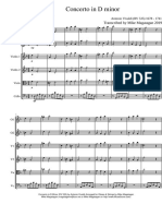 Concerto in D Minor RV 535 for Oboes Strings