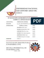 Parámetros Geomorfológicos de La Cuenca Capulichayoc