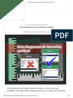 Lista Suspensa Com Tamanho Variável - Acadêmicos Do Excel