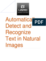 Automatically Detect and Recognize Text in Natural Images