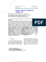 Evaluating Determinants of Effective Port-Hinterland Connectivity in Shanghai Ports