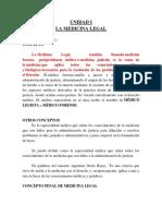 Guia Unidad i - Medicina Legal