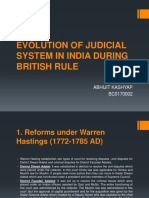 Evolution of Judicial System in India During British