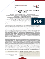 Comparative Tolerance Analysis Approaches