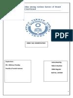 Dissertation Final Rahul Chauhan Mba 2nd Yr