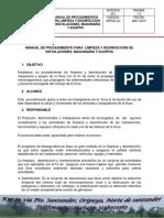 5. Manual de Limpieza y Desinfección