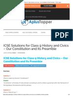 Icse Civics Lesson 1