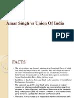 Amar Singh vs Union of India