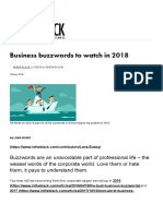 Business buzzwords to watch in 2018 | INTHEBLACK
