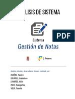Análisis de Sistema - Sistema 'Gestión de notas'.pdf