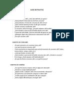 Guía de Pautas Focus Group