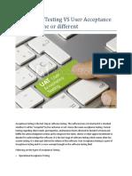 Acceptance Testing vs User Acceptance Testing