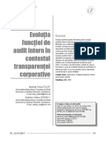 evolutia functiei de audit intern