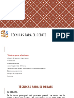 Técnicas Para El Debate defensa publica penal guatemala