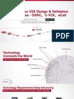 (P2) Master Your V2X Design _ Validation Challenges - DSRC C-V2X eCall_Jian-Hua _ Alex.pdf