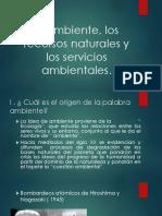 Ambiente, recursos naturales y servicios ambientales