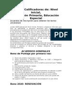 Acuerdos Bono Primaria