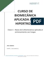 Clase 1 Bases de La Biomecánica Aplicada Al Entrenamiento Con Cargas