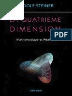 Steiner Rudolf - La quatrième dimension Mathématique et réalité.pdf