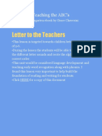 revised teaching the abcs