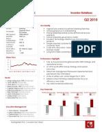 Sterling Bank PLC Investor Q2 2010 Factsheet