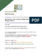 Info Du Mois Liste Des Aliment Interdit a La Consomation Et Glutamate Monosodique