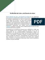 Día Mundial Del Libro y Del Derecho de Autor