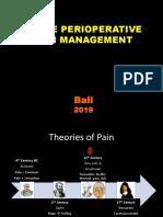 Perioperative Pain Management- Bali 2019