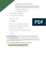 Ecuaciones Logaritmicas y Exponenciales