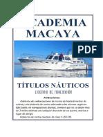 Licencia de Navegación 2019 - Academia Macaya de Santander